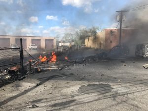 Small plane crash kills two, sets buildings ablaze in New Jersey