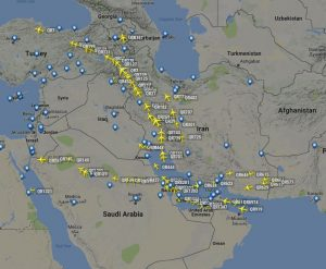 Qatar Airways mass cancellations while shifting routes over Iranian Airspace