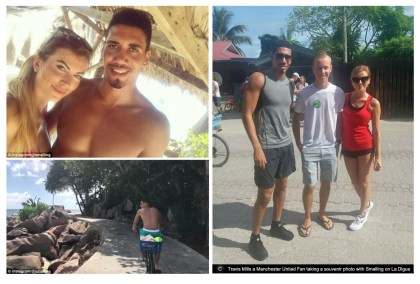 Manchester United center-back Chris Smalling enjoys summer break in Seychelles with new wife