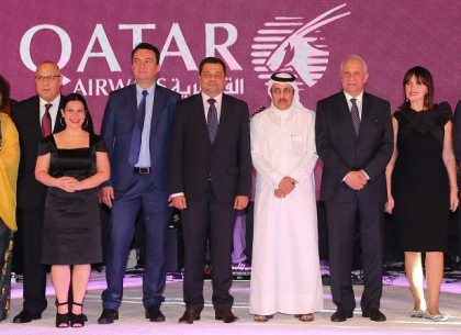Qatar Airways celebrates the arrival of its inaugural flight To Skopje