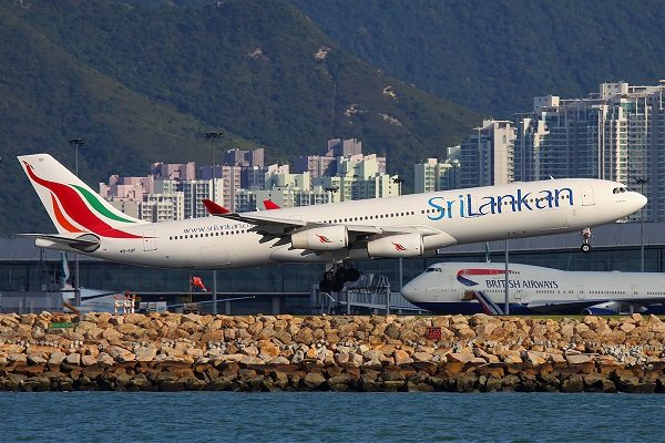 SriLankan Airlines launches nonstop flight from Hong Kong to Colombo