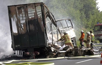 18 killed, 31 injured in tourist bus fire in Germany