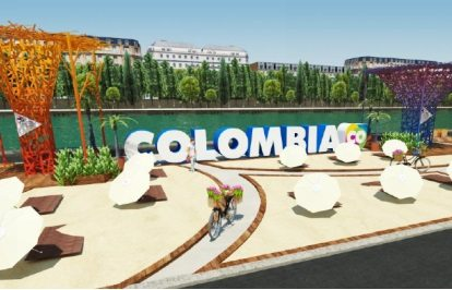 Colombian beach on the banks of the Seine