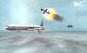 Al Arabiya TV animation video shows Saudi fighter jet downing Qatar passenger plane
