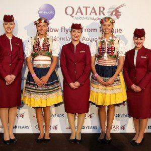 Qatar Airways lands at  Václav Havel Airport Prague