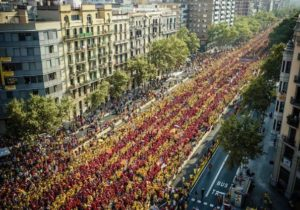 1 million Catalans march for independence in Barcelona on National Day