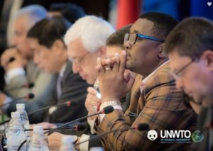Addressing the UNWTO General Assembly: African style with a sharp global view