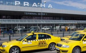 Czech taxi drivers block major road to Prague international airport to protest Uber