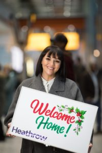 Martine McCutcheon surprises passengers at Heathrow with a Love Actually moment
