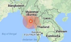 Strong earthquake strikes Myanmar