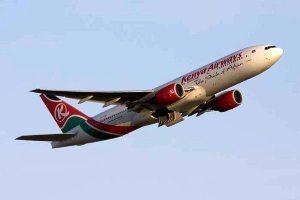 Kenya Airways taking off