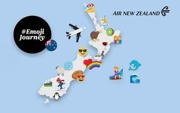 Air New Zealand launches #EmojiJourney