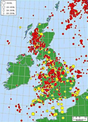 Today's earthquake in England and Wales: Massive for British standards