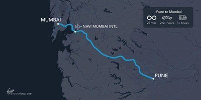 First Hyperloop Route in India: Pune to Mumbai 25 minutes travel time