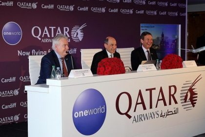 Qatar Airways hosts press conference in Cardiff to celebrate inaugural flight to Welsh capital