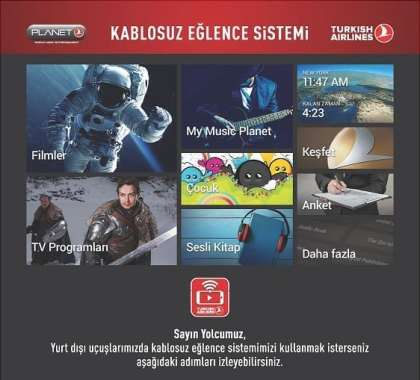 "Turkish Airlines introduces domestic production ""Wireless In-Flight Entertainment System"""