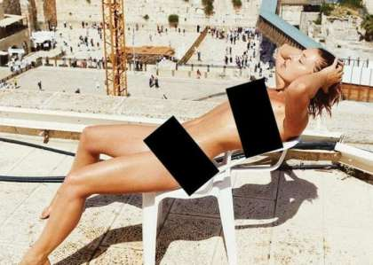 Belgian visitor's nude Western Wall photoshoot causes uproar in Jerusalem