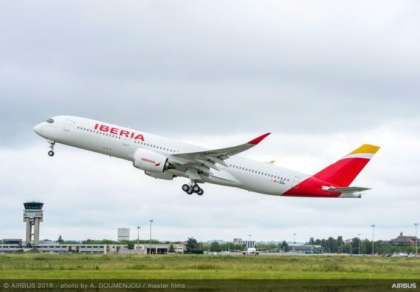 Iberia takes delivery of its first A350-900