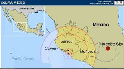 Mexican Pacific Ocean region hit by 6.1. Earthquake