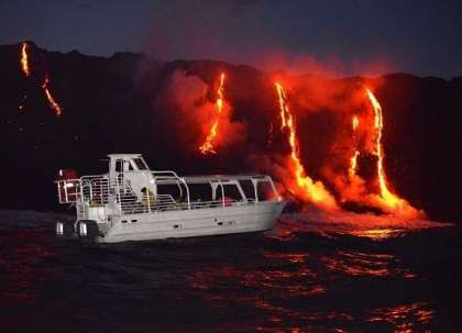 22 tourists injured as flying rock from Hawaii volcano crashes tour boat
