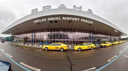How does Prague Airport compare to UK, Germany, Spain, Italy?