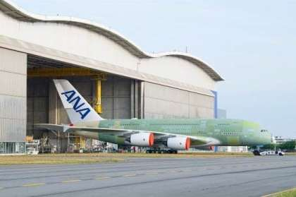 First ANA Airbus A380 rolls out of final assembly line in Toulouse