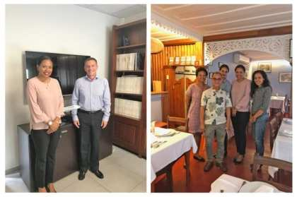 Seychelles Tourism Board Chief Executive with key stakeholders in Reunion