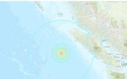 6.8 Earthquake:  Vancouver Island Region, Canada