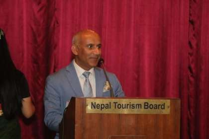 A proud day for CEO Deepak Joshi and the Nepal Tourism Board