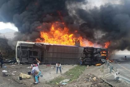 20 people killed, 31 injured in fiery Mexico bus crash