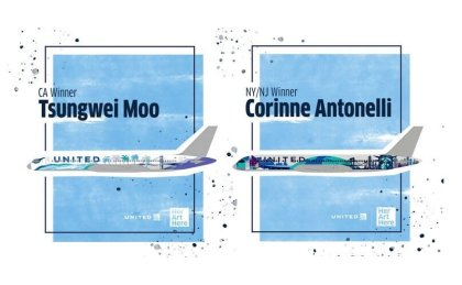 Her Art Here: United Airlines unveils aircraft paint job designs by female artists