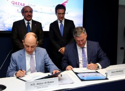 Qatar Airways Cargo order five Boeing 777 Freighters at Paris Air Show