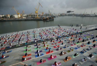 India celebrates International Yoga Day in inventive ways and in strange places