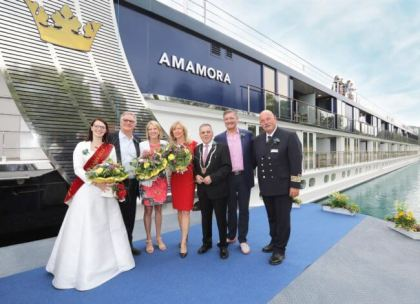 AmaWaterways welcomes third new cruise ship for 2019 season