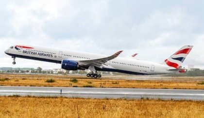 British Airways takes delivery of its first Airbus A350-1000