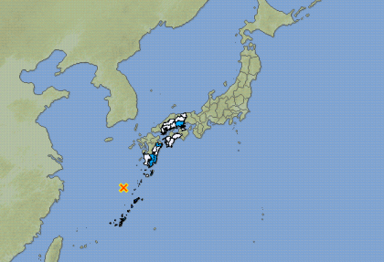 Earthquake strikes northwest of Ryukyu Islands in Japan