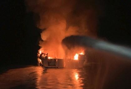 34 feared dead in massive fire on scuba diving boat off California's Santa Cruz Island