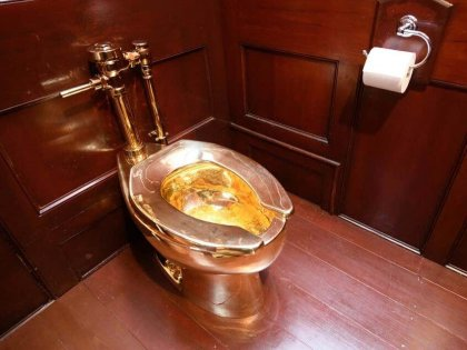 Dirty crime: £1 million solid 18K gold toilet stolen from English palace