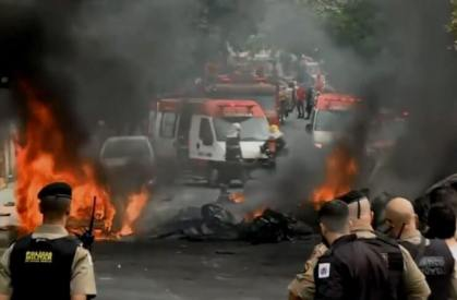 Plane crashes into busy intersection in Brazil killing at least three people