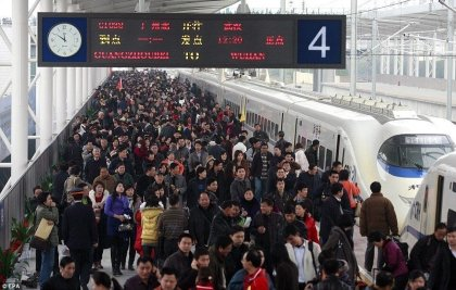 China Railway: 2.8 billion Chinese traveled by train in 2019