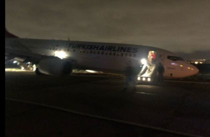Turkish Airlines jet with 134 people on board crash lands at Odessa airport