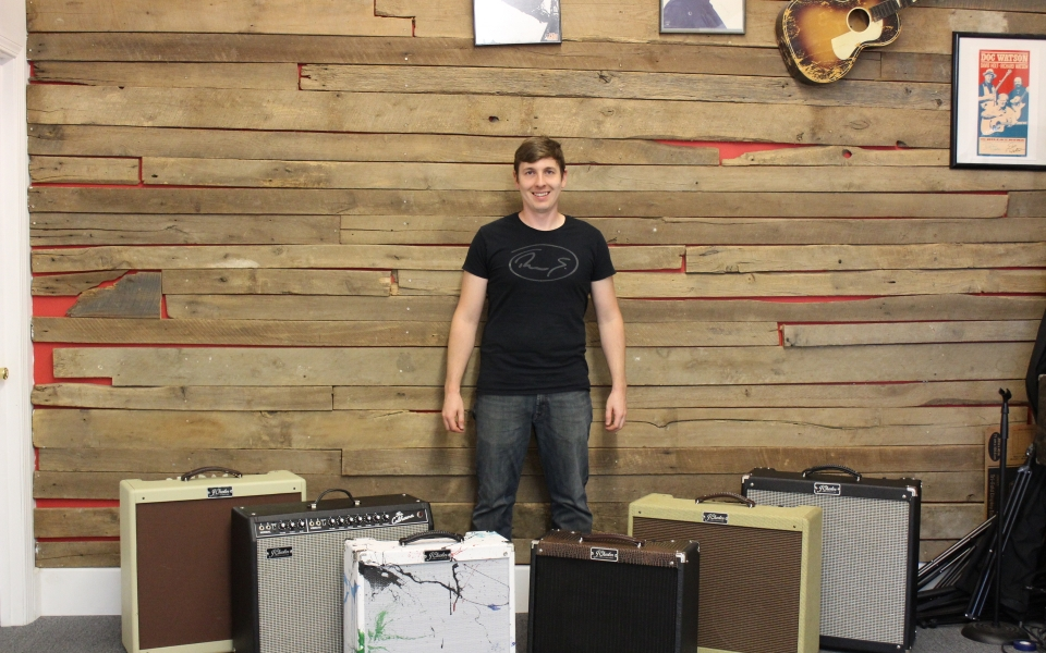 Jordan Chesnut with amplifiers