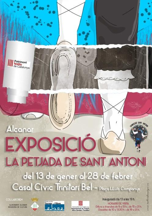 CARTELL EXPOSICIÓ LA PETJADA DE SANT ANTONI ALCANAR