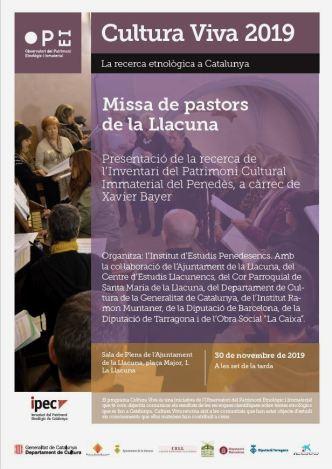 Cartell Missa de pastors - La Llacuna