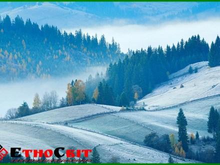 Тур в Карпати / краєвиди пізня осінь