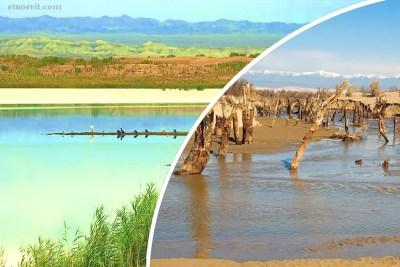 Деревянное озеро Казахстан