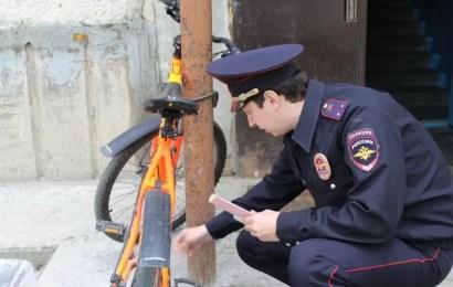 В Нефтеюганске полицейские провели акцию «Грустный смайлик» для велосипедистов