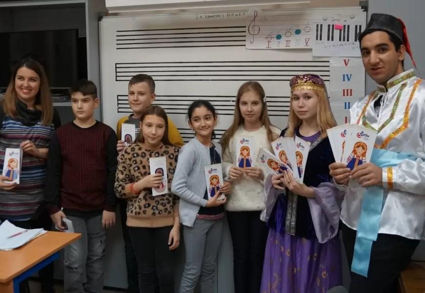 В детской муз.школе имени В.В.Андреева прошел концерт, посвященный празднику 4 ноября