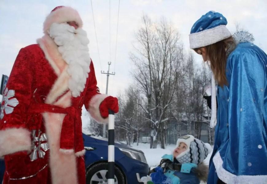 Старый Новый год вместе с полицейским Дедом Морозом :))