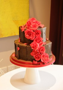 Tiered chocolate cake